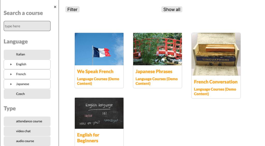 screenshot of the WordPress post filter, slider left menu